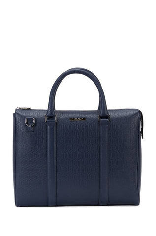 BOSS - Signature Holiday Edition single document case in palmellato leather