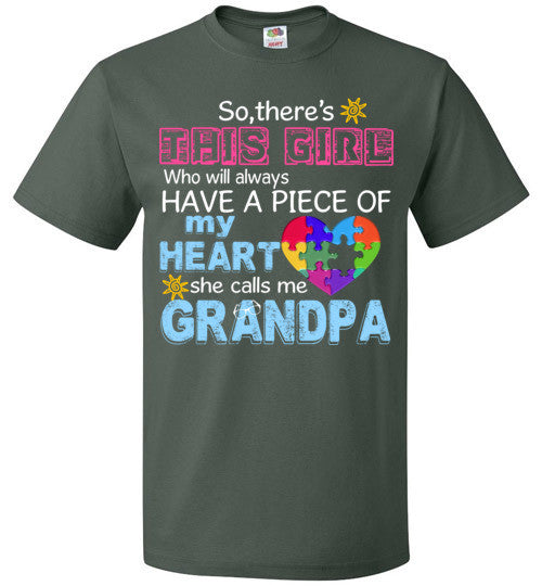 Autism Grandpa   Piece Of My Heart Awareness Girl