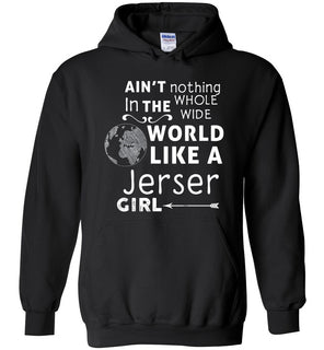 Ain't nothing in the whole wide world like a jerser girl - Heavy Blend Hoodie