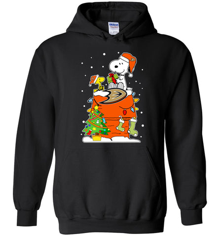 Anaheim duckUgly Christmas Sweaters Snoopy Woodstock - Heavy Blend Hoodie