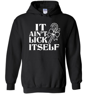 It Ain't Lick Itself, christmas candy, christmas sweater hoodie - Heavy Blend Hoodie