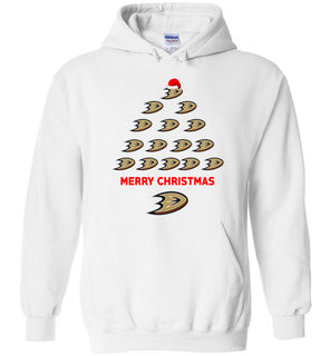 Anaheim Ducks Ugly Christmas Sweaters Merry Christmas - Heavy Blend Hoodie