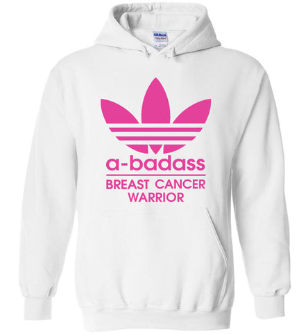 a badass breast cancer warior, a badass cancer - Heavy Blend Hoodie