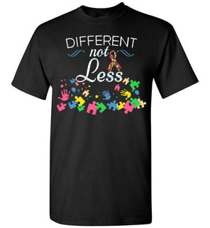 Autism Awareness Different Not Less Puzzle Pieces