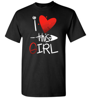 'I Love This Girl' Design on Tshirt