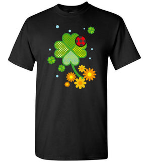 Cute Clover St. Patrick Flowers Fun Art Gift