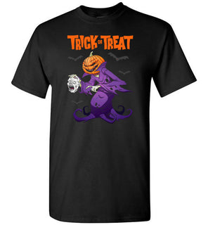 Trick Or Treat Pumpkin Zombie Halloween T Shirt