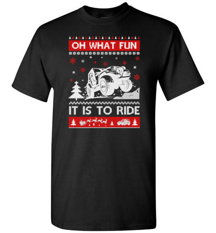Jeep Sweater Christmas Oh What Fun It Is To Ride T Shirt