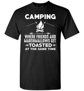 Camping Where Friends And Marshmallows Get Toasted At The Same Time