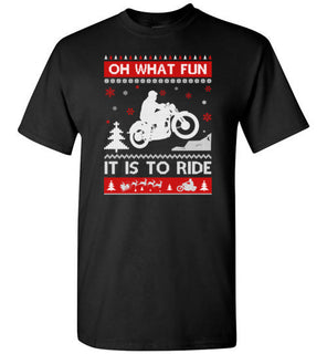 Motorcycle Sweater Christmas Oh What Fun It Is To Ride T Shirt