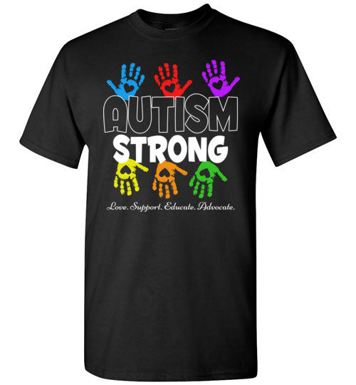 Autism Awareness T shirt For Mom Dad Kid   Autism Strong