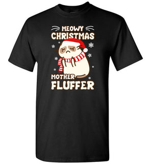 Meowy Christmas Mother Fluffer T Shirt