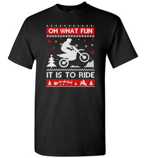 Motocross Sweater Christmas Oh What Fun It Is To Ride T Shirt