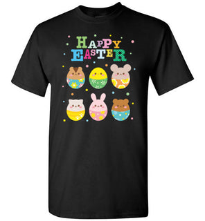 Happy Easter Cute Animal Emoji Colorful Eggs Novelty
