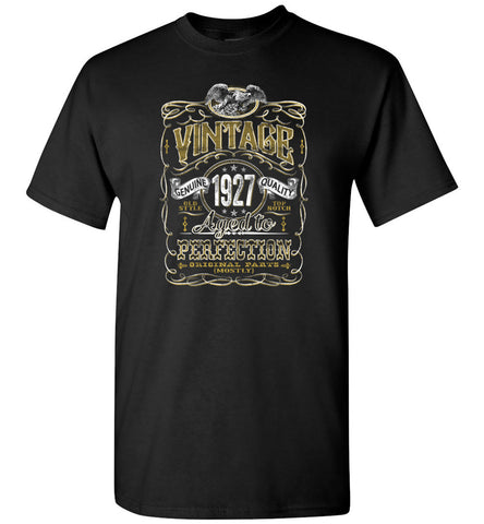 1927 Vintage Aged To Perfection birthday gift shirt hoodie shop, vintage birthday 90th
