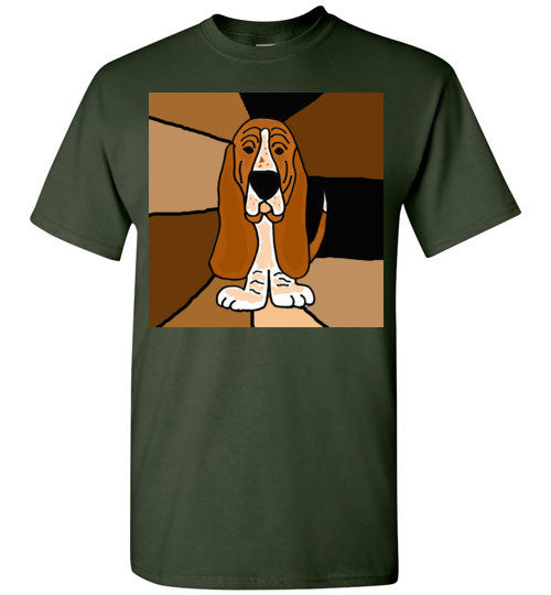 Adorable Basset Hound Dog Art Abstract