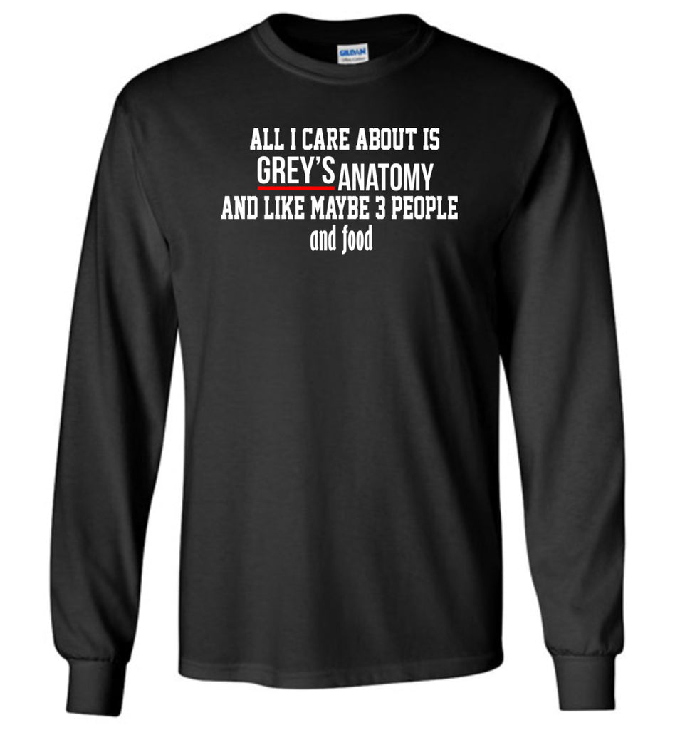 all i care about is grey\'s anatomy and like maybe 3 people and food ...