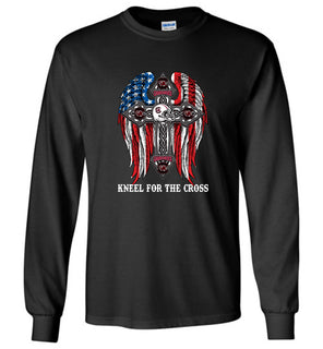 1 stand for the flag kneel for the cross, South Carolina Gamecocks - Long Sleeve T-Shirt