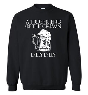 a tre friend of the crown dilly dilly - Gildan Crewneck Sweatshirt