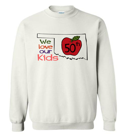 50th We love our kids - Gildan Crewneck Sweatshirt