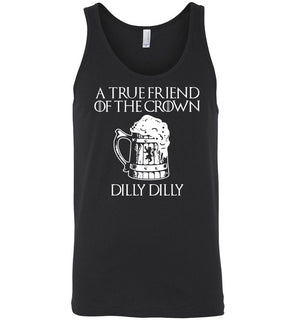 a tre friend of the crown dilly dilly - Canvas Unisex Tank