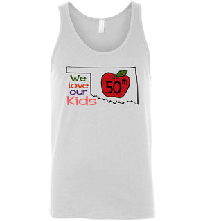50th We love our kids - Canvas Unisex Tank