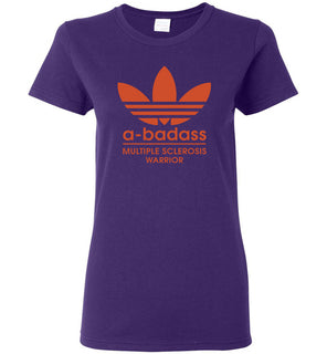 Abadas logo multiple sclerosis warrior - Ladies Short-Sleeve