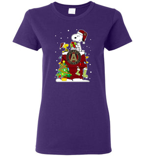 Alanta Ugly Christmas Sweaters Snoopy Woodstock - Ladies Short-Sleeve