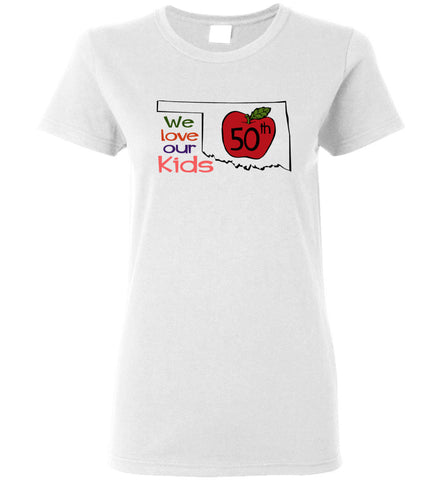 50th We love our kids - Ladies Short-Sleeve