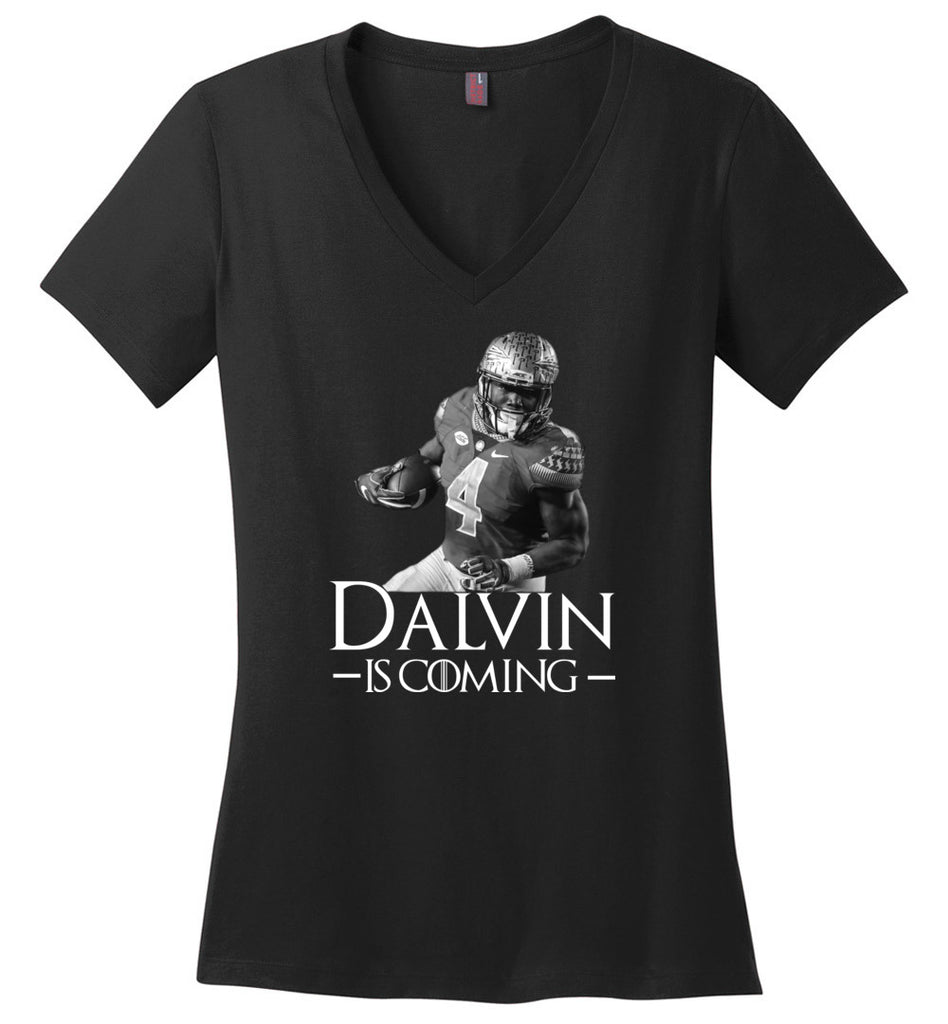Dalvin Is Coming - Ladies Weight V-Neck