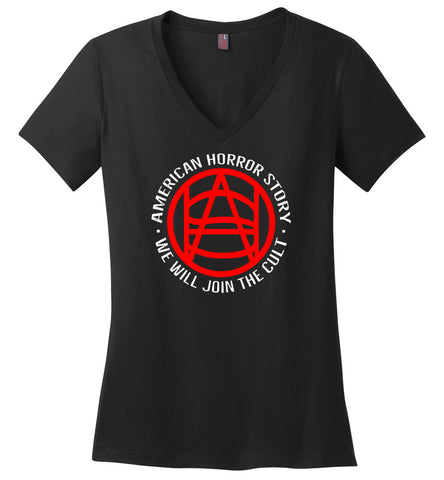 New Season American Horror Story We Will Join The Cult - Ladies Weight V-Neck
