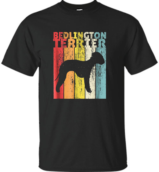 Bedlington Terrier Vintage T-Shirt Dog Retro Style Gift - Shirt