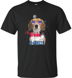 Beagle Shakes Sparkler 4th Of July Pride T-shirt Flag Gift - Shirt