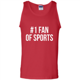 #1 Fan Of Sports Funny T-Shirt Sports Tee - Tank Top