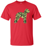 BEDLINGTON TERRIER Camouflage Military Army T-shirt - Shirt
