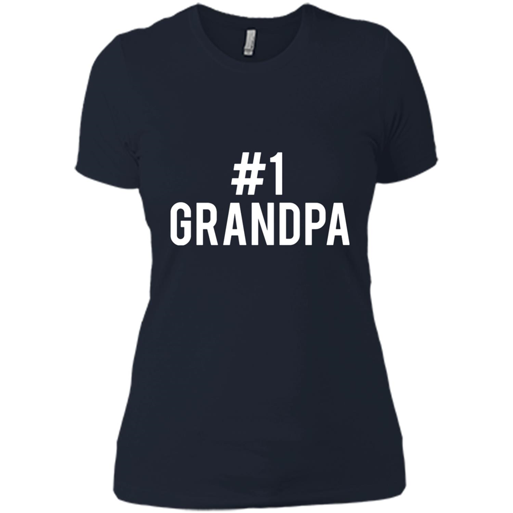 #1 Grandpa Design for Father_s Day, Grandparents_ Day, or Birthday T-Shirt - Ladies' Boyfriend T-Shirt