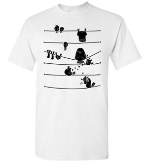 Bird Tshirt   Striped Bird design on tshirt for men and women