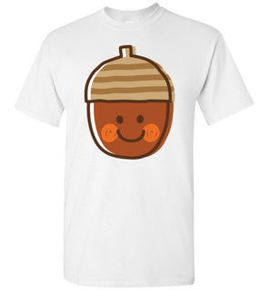 Acorn Nut Emoji Cute Face Pink Blush