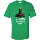 Black Panther Kings are born in May - T-Shirt