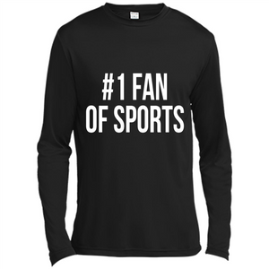 #1 Fan Of Sports Funny T-Shirt Sports Tee - Canvas Long Sleeve T-Shirt