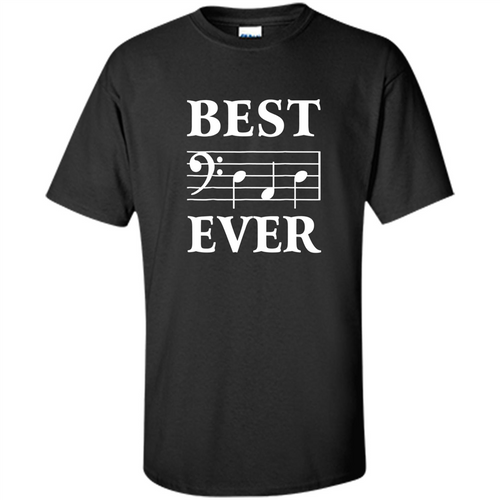 Best Dad Ever Bass Clef Musician Father's Day - T-Shirt