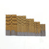 50Pcs/Set Titanium Twist Drill Bit