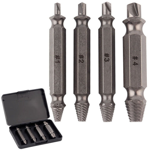 Damaged Screw Extractor & Bolt Extractor Set 4pcs
