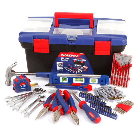 WORKPRO 170PCS Household Tool Set with Portable Box Tool Set