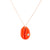 Cauri n°2 necklace | 9K Yellow Gold, carved coral & turquoise