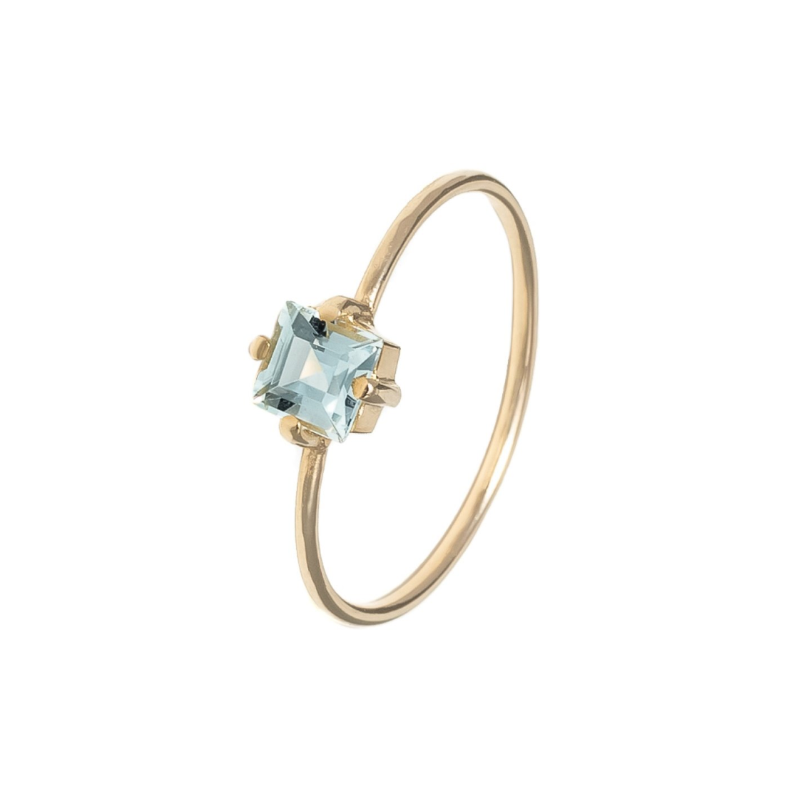 baby d carre blue ring