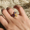 Baby D Love Rose | 14k yellow gold and rhodolite