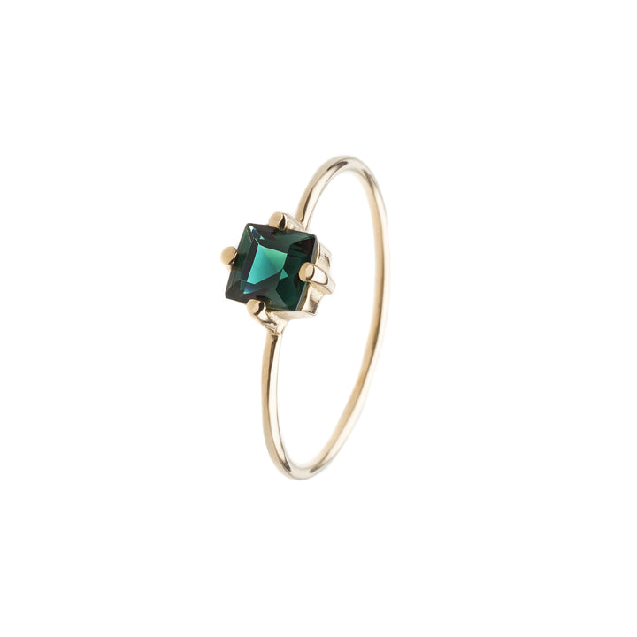 baby d carre green ring