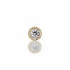 1.5 mm scalloped set diamond threaded Stud | 14K Yellow Gold | Single