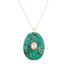 orso n°2 necklace | 14K Rose, turquoise & polki diamond
